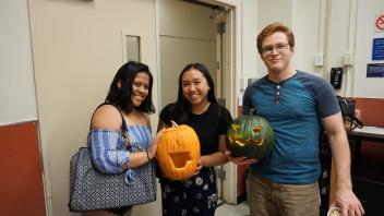 Fellow ChemE's posing with their pumpkins!